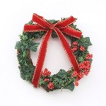クリスマスリースの玄関への取り付けと飾り方、マンションの場合