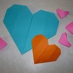 折り紙のハートの作り方 簡単に立体やメッセージカードも