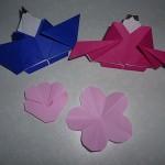 お雛様と桃の花を折り紙で!切り紙の作り方やひな祭り飾りも