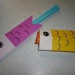 鯉のぼりのような折り紙の箸袋やこどもの日の簡単な小物づくり