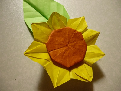 簡単 折り紙 折り紙 ひまわり 作り方 : pleasantdays.info