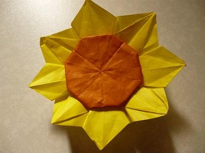 クリスマス 折り紙:折り紙 ひまわり 折り方-pleasantdays.info