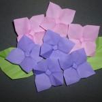 折り紙のあじさいの折り方 一枚でも折れる?葉っぱどうする?
