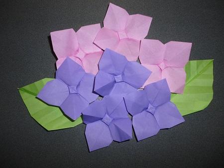 クリスマス 折り紙 あじさい 折り紙 簡単 : pleasantdays.info
